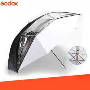 "Image 1 - Godox 33"" 84cm Double Layers Reflective and Translucent Black White Umbrella for Studio Flash Strobe Lighting"