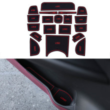 19Pcs/Set Car Styling Slot Pad Interior Door Groove Mat Latex Anti-Slip Cushion For Honda Vezel HRV H-RV Car Internal Dedicated