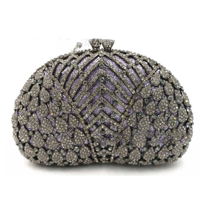 XIYUAN BRAND black Evening Clutch Bag Crystal Party bags Female Chain Bag Luxury Rhinestone Wedding Bag Bridal pink Clutch purse flower evening crystal bag golden stones rhinestone clutch evening bag female party purse wedding clutch bag shoulder bags
