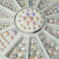 2015 New  3 Sizes Acrylic Mixed Colors Glitter Rhinestone Rivets Nail Art  Salon Stickers Tips DIY Decorations    6FFP