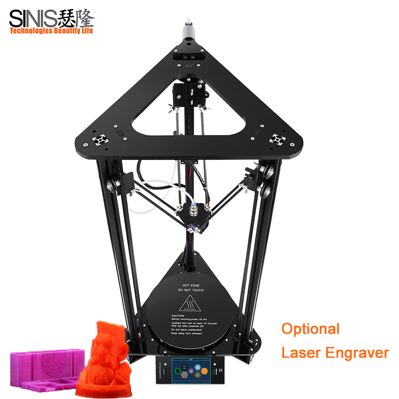 Reprap i3 DIY Kit 3D printer Aluminum & Acrylic Frame Large Printer Size D180*H320MM and filament+ SD card Desktop 3d Printing цена 2017