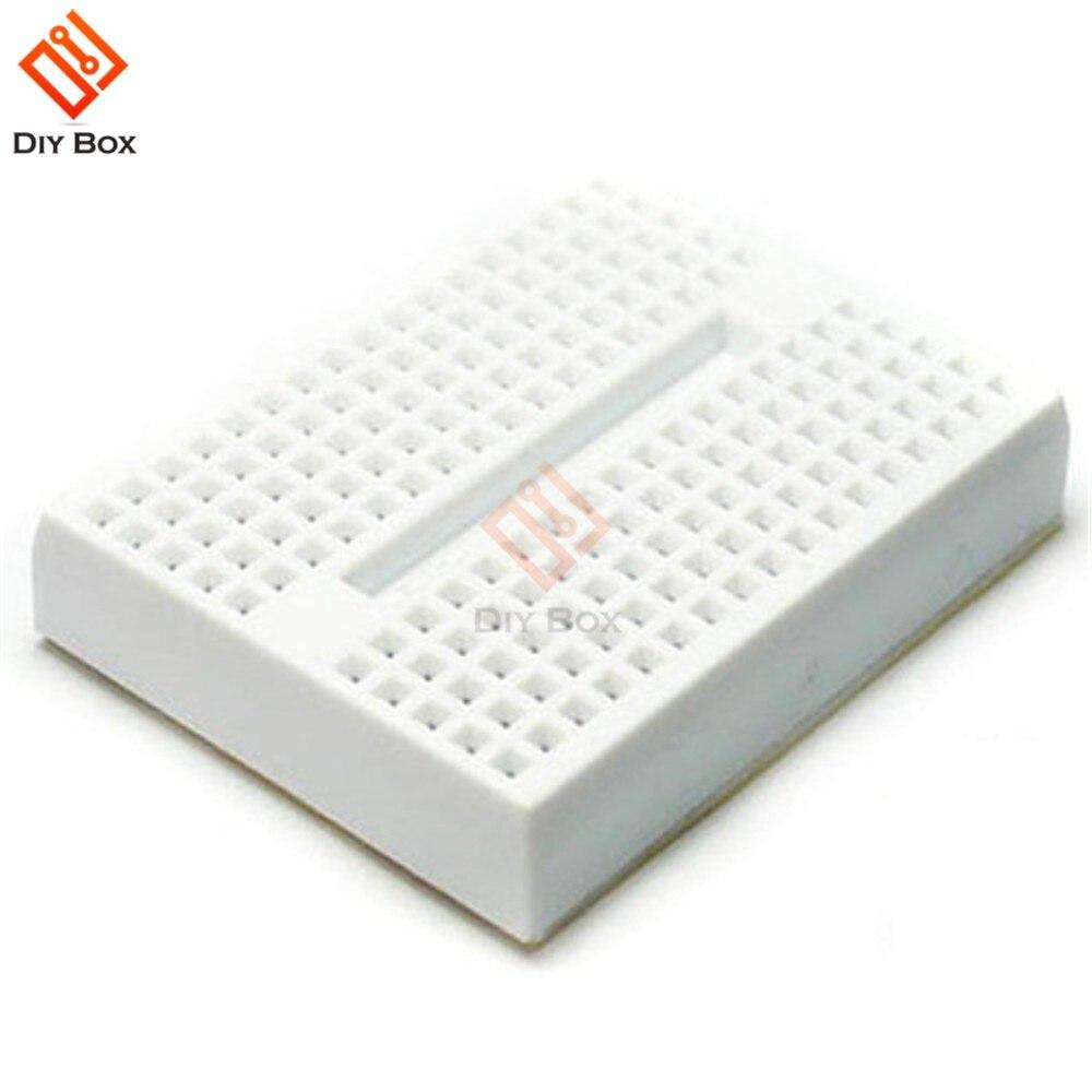 10Pcs White Solderless Prototype Breadboard 170 Tie-points for Arduino Shield AI