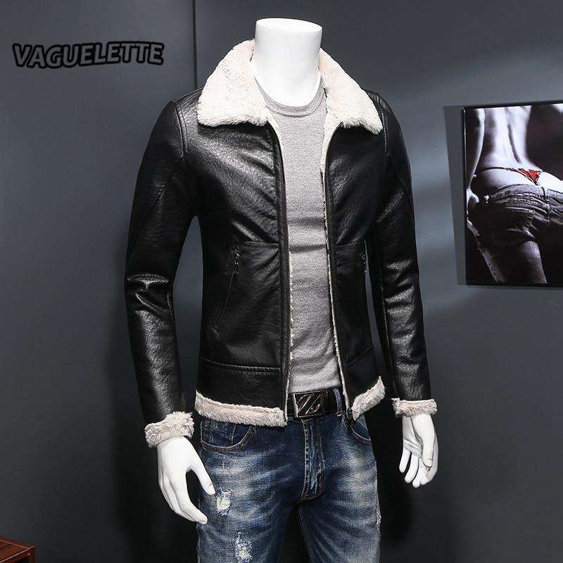 luxury winter male leather jacket vintage warm blouson cuir homme fashion retro mens faux fur. Black Bedroom Furniture Sets. Home Design Ideas