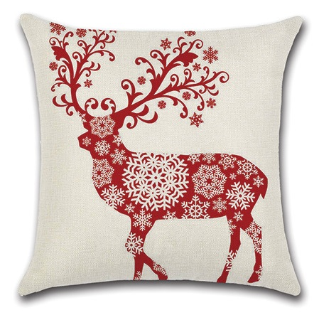 Image 5 - 2pcs Colorful Leaves Deer Red Snowflake Water Colored Gemetric Creative Animal Beautiful Pillow Cover Cushion Cover for Sofa-in Cushion Cover from Home & Garden