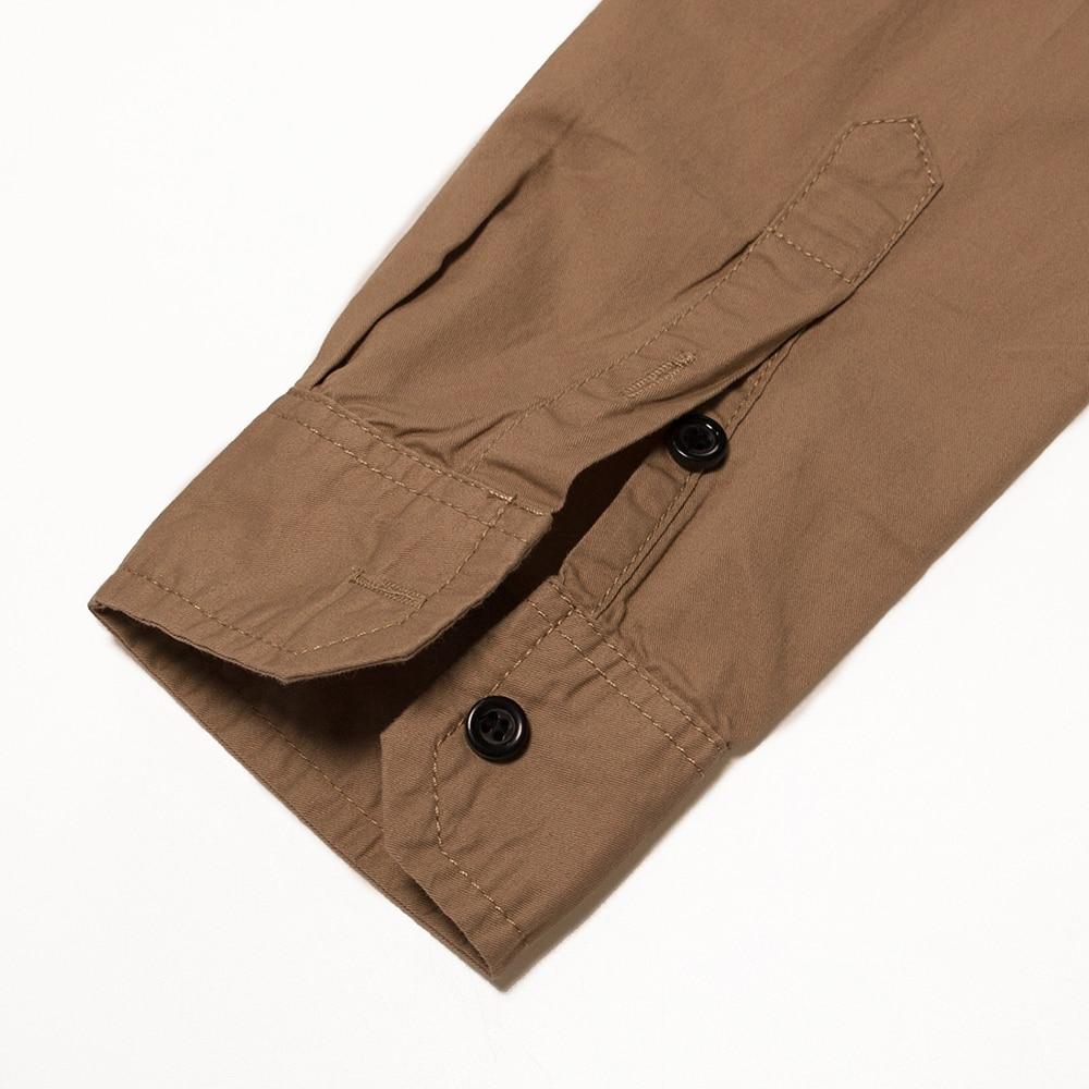 Image 5 - Fredd marshall 2019 novo 100% algodão camisa militar dos homens  de manga longa casual vestido camisa masculina carga trabalho camisas  com bordado 115Camisas casuais