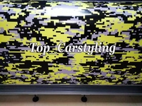 Yellow Ubran Camo Vinyl For Car Wrap Digital Camo Car Sticker Motorcycle Bike Boat Vehicle Covering
