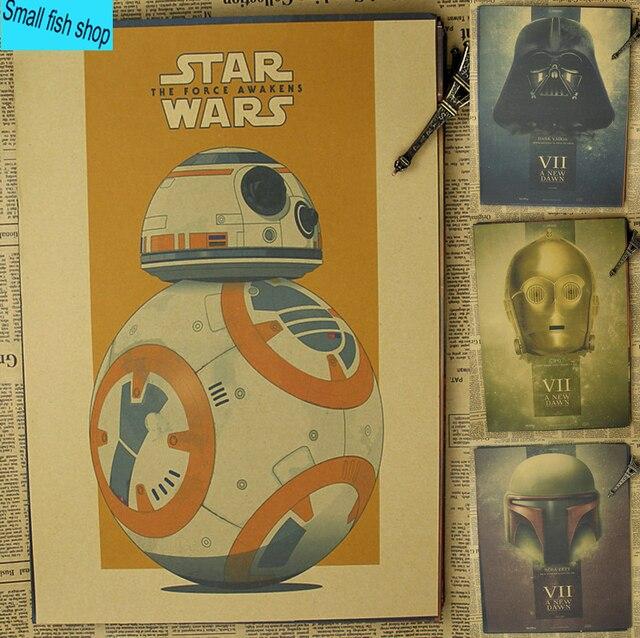 Звездные войны The Force Пробуждает Домашнего Интерьера украшение Крафт Постер Фильма Рисунок ядро Стены стикеры