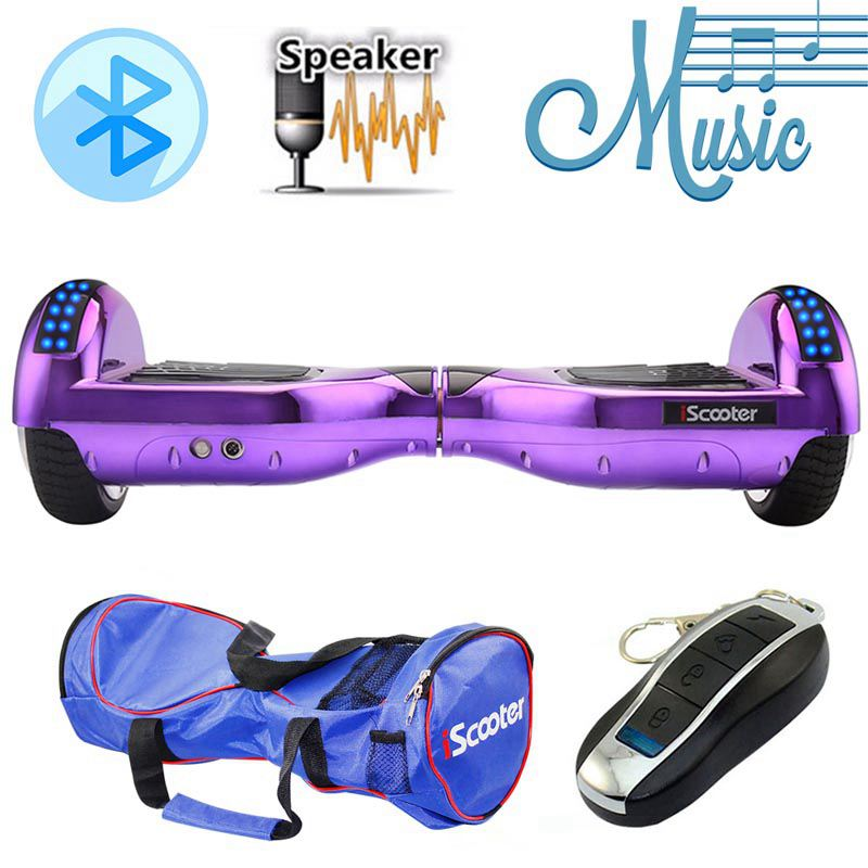 iscooter hoverboard 6 5 inch bluetooth speaker scooter. Black Bedroom Furniture Sets. Home Design Ideas
