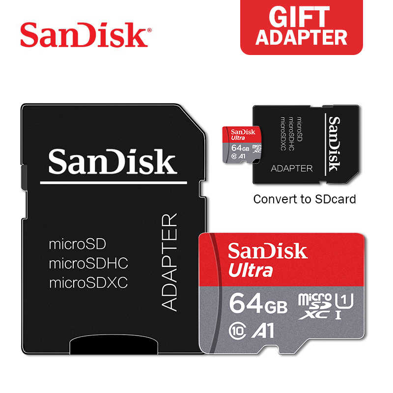 Orijinal Sandisk Ultra mikro SD 128GB 64G 32G 16G mikro SD kart SD/TF Flash kart hafıza kartı microSD SmartPhone için