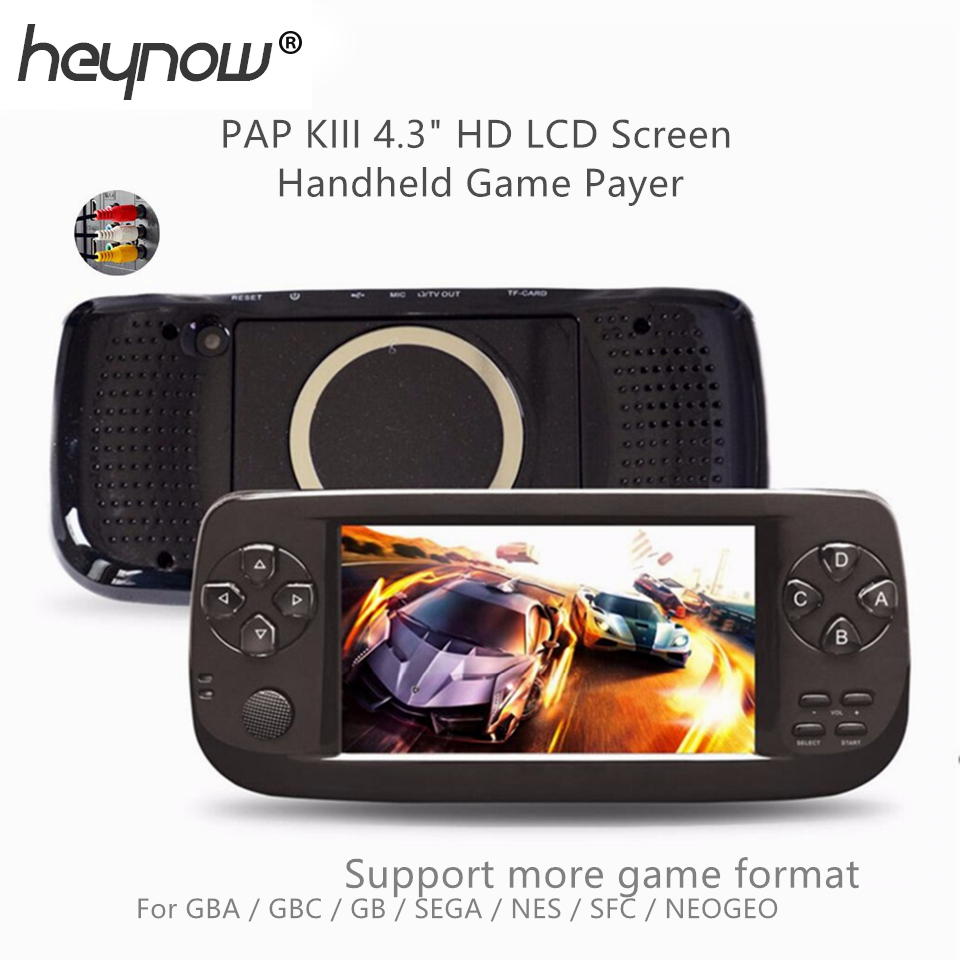 PAP K3 4.3inch Handheld Game Player 64bit Built-in 3000 Retro Classic Games For GBC/CP1/NEO for Child Portable Game Console 16GB