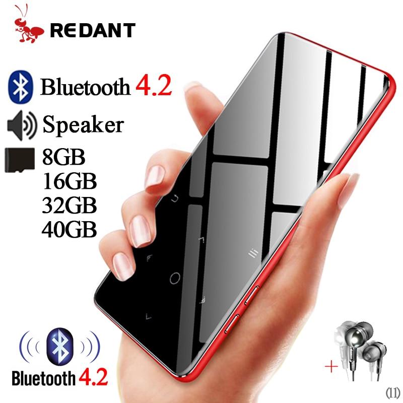 Lecteur MP4 bluetooth métal lecteur mp3 mp4 lecteur multimédia portable lecteur mp 4 avec touches tactiles écran 2.4 pouces radio fm baladeur Hifi