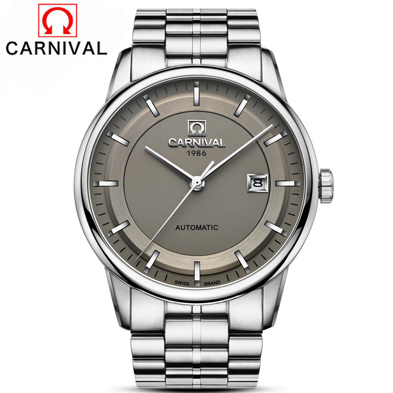 Carnival Japan MIYOTA Movement Automatic Watch Men Simple Full Steel Mechanical Watches High Quality Clock relogio masculino Carnival Japan MIYOTA Movement Automatic Watch Men Simple Full Steel Mechanical Watches High Quality Clock relogio masculino
