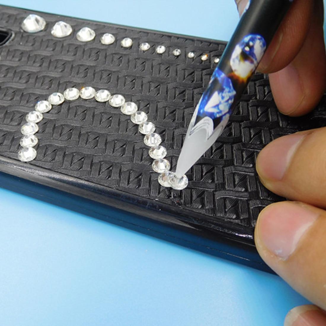 3D Nail Decoration Tool Wax Pen Rhinestone Studs Picker Crystal Easily Picking Up Pencil 1PC Nail Art Manicure Dotting Pen