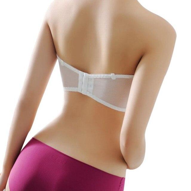 919f3366f5e4f Women Bras Wireless Solid Underwear Bralette 3 Hook 3 Rows Full Cup  Strapless Bra Hollow Breathable Brassiere Intimate Women