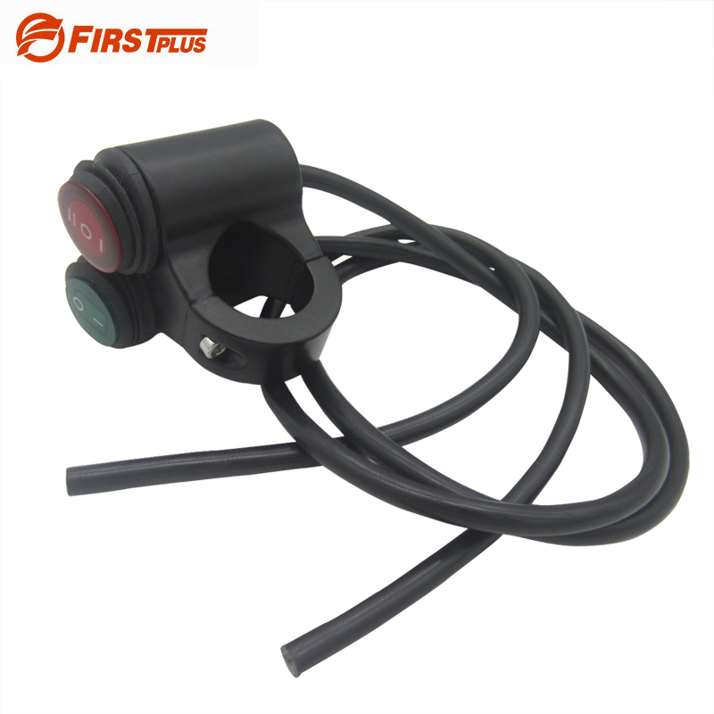 Aluminum Motorcycle Handlebar Double Control Button Switch Headlight Hazard Brake Fog Light ON OFF Switches With Indicator Light