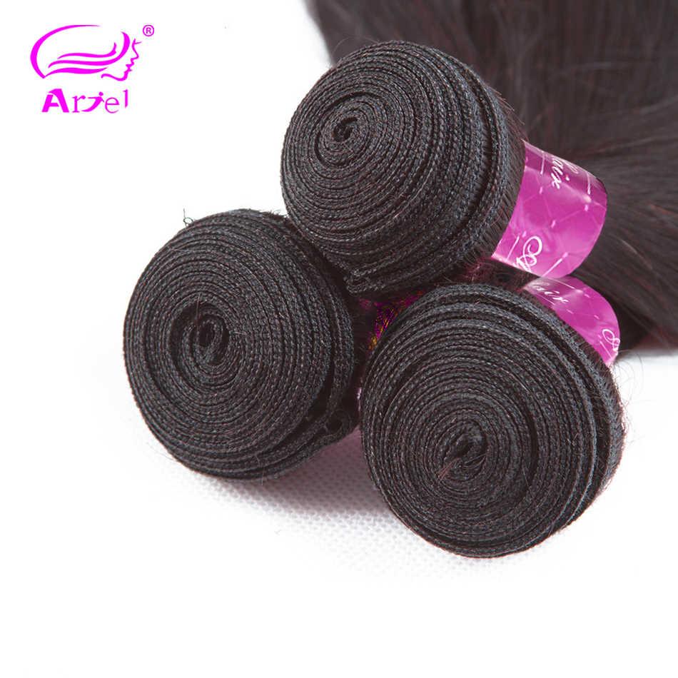 Ariel Ekstensi Rambut Lurus Bundel Brasil Rambut Menenun 8 untuk 30 Inch Bundel Non Remy Double Pakan Rambut Manusia bundel