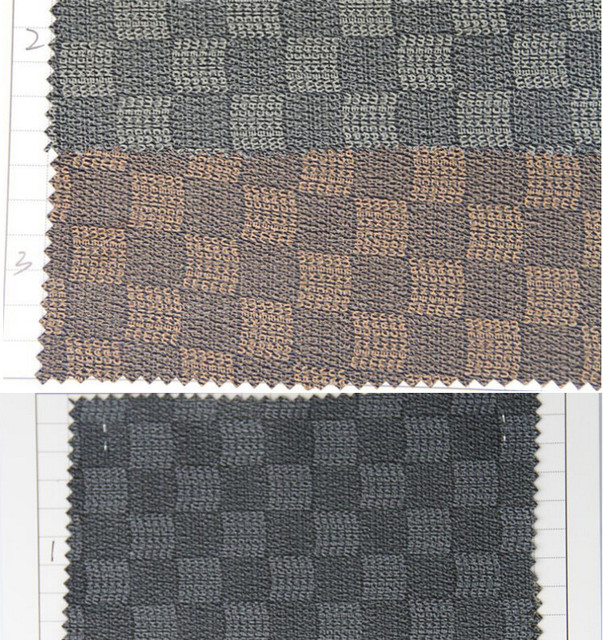 Leather Sofa Fabric Material Sofa Grid Pattern Leather For Furniture Upholstery  Fabric Sofa Synthetic PVC Leather