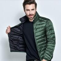2018 New Brand Mens Jacket 90% White Duck Down Double Side Wear Ultra Light Down Coat Jacket Men Parka Coat Chaqueta Hombre