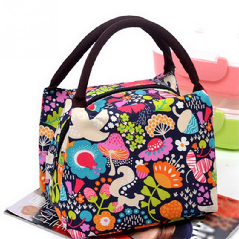 2018Print Portable Insulated Canvas lunch Bag Thermal Food Picnic Lunch Bags for Women kids Men Cooler Lunch Box Bag Tote