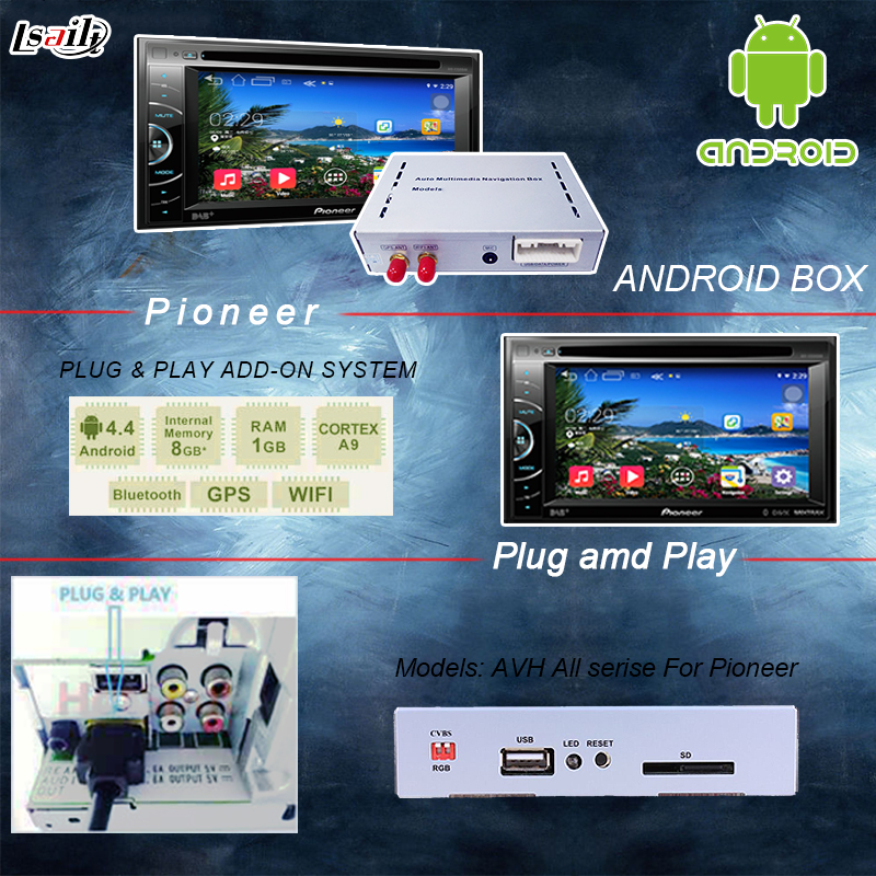 Universal Android GPS navigation box für pioneer einheit mit cast screen bluetooth wifi