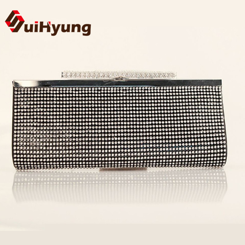 Hot Style New Women's Banquet Day Clutches Luxury Sided Full Diamond Evening Bag Wedding Party Handbag Purse Shoulder Bag luxury real new arrival day clutches diamonds flower women bag banquet crystal handbag wedding party handbags night clubs purse