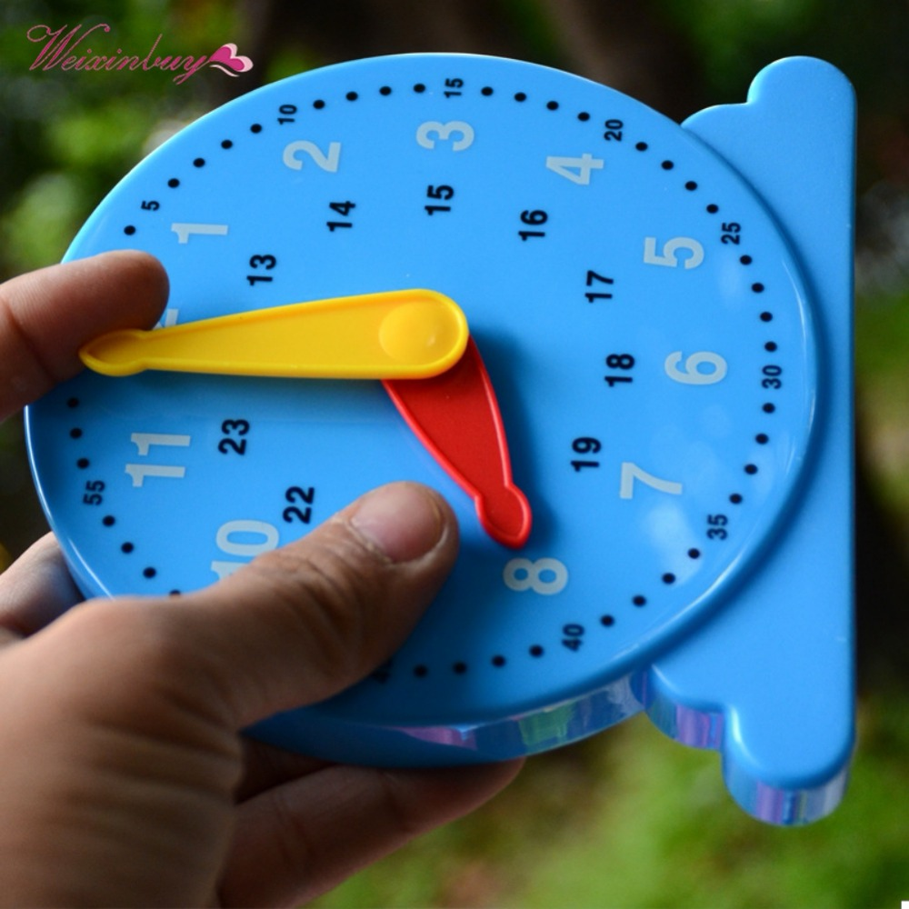 Learn To Tell Time Digital Clock Model Teaching Aids Kids Baby Early Learning Intelligence Toys Xmas Gift