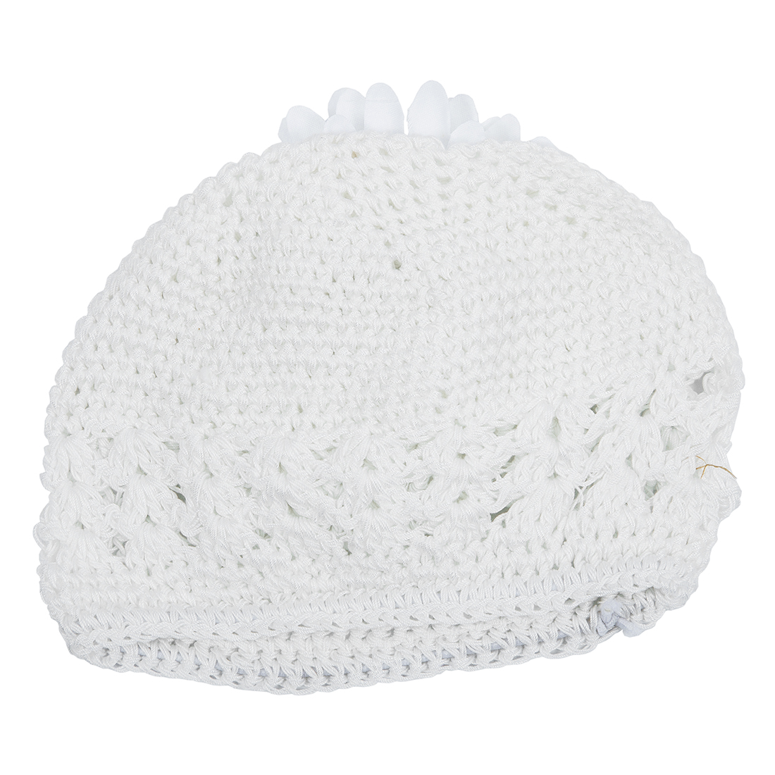 c423fff6f3b HOT SALE Baby Girls Toddler Crochet Beanie Hat with Flower Clip Black(12.5x16cm)-in  Hats   Caps from Mother   Kids on Aliexpress.com