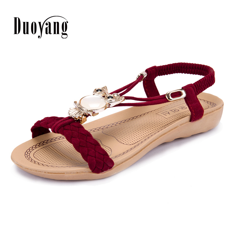 Women shoes 2017 bohemia owl crystal shoes woman flip flop summer beach style women sandals zea3 4 1ly woman s stylish bohemia style beach holiday dress green