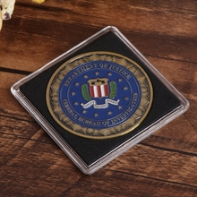 Jewelry Coin Box Storage Square Transparent Case Supplies 24.5mm26.5mm29.5mm32.5mm40.5mm