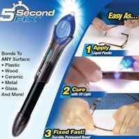 5 Second Fix Liquid Glass Welding Compound Glue Repairs Tool Quick Use UV Light Fix Pen / Refill Glue Optional