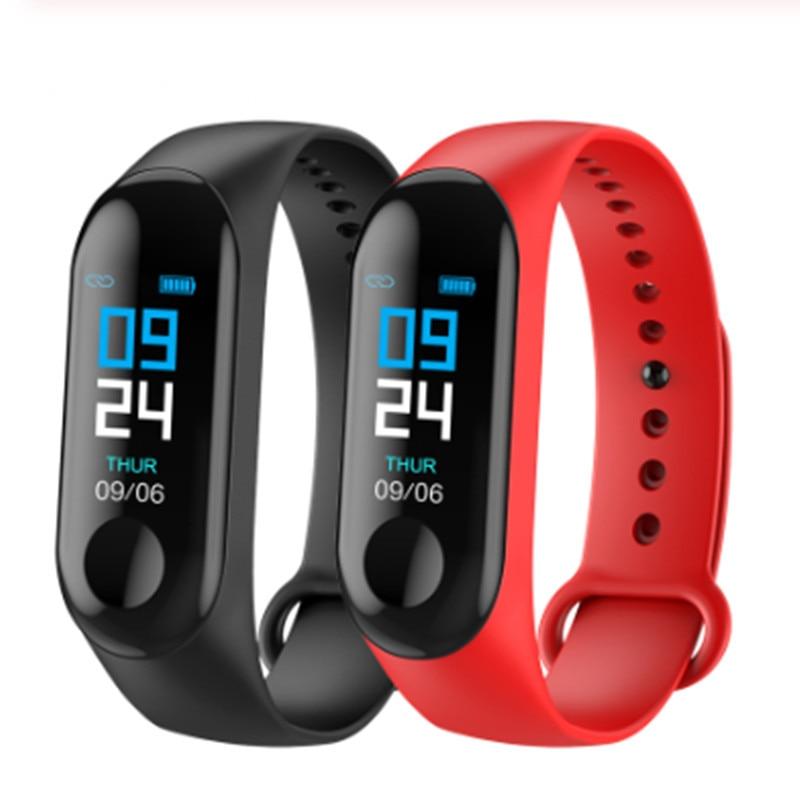 Bracelet intelligent LYKRY M3X Tracker de pression artérielle IP67 étanche Bluetooth Bracelet intelligent pour iphone xiaomi smartband