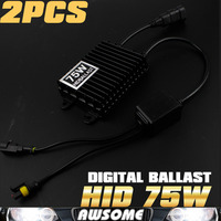 1Pair 75W High Power HID Slim Digital Xenon Ballast Hid Ballast For H1 H3 H7 H8