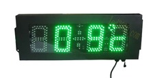 5inch 4digits green color time and temperature clock(HOT4-5G)
