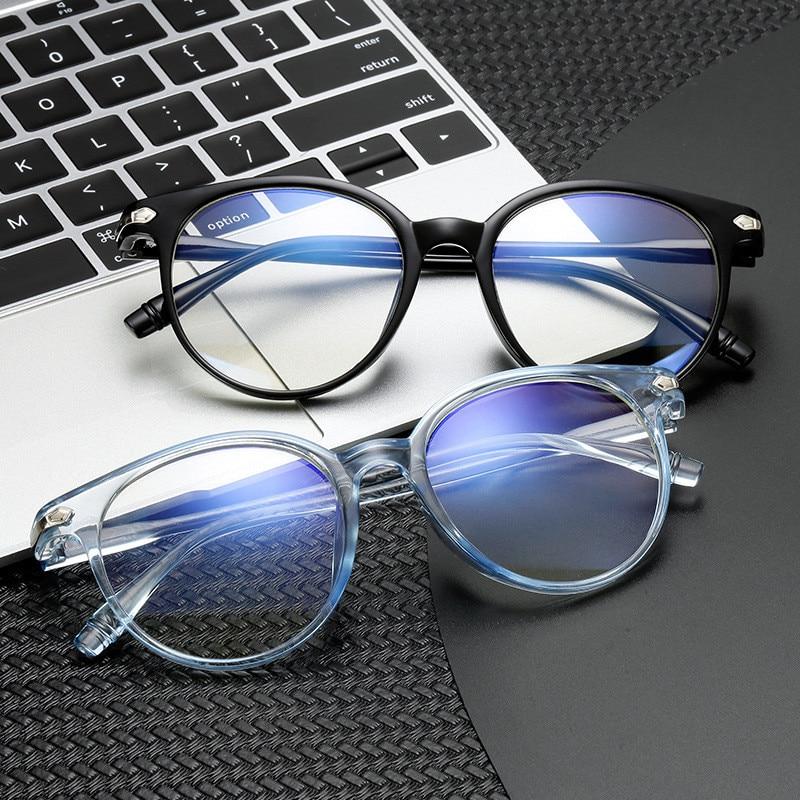 Women New Glasses Frame Vintage Anti-blue Round Clear Lens Glasses Spectacle Frames Men Anti Blue Light Eyeglasses Frame