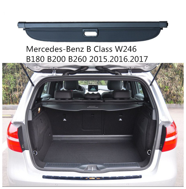 car rear trunk security shield cargo cover for mercedes benz b class w246 b180 200 260. Black Bedroom Furniture Sets. Home Design Ideas