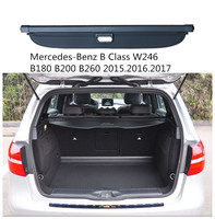 Rear Trunk Security Shield Cargo Cover For Mercedes Benz B Class W246 B180 2015 2016 2017 2018 2019 Trunk Shade Security Cover High Quality Car Accessories