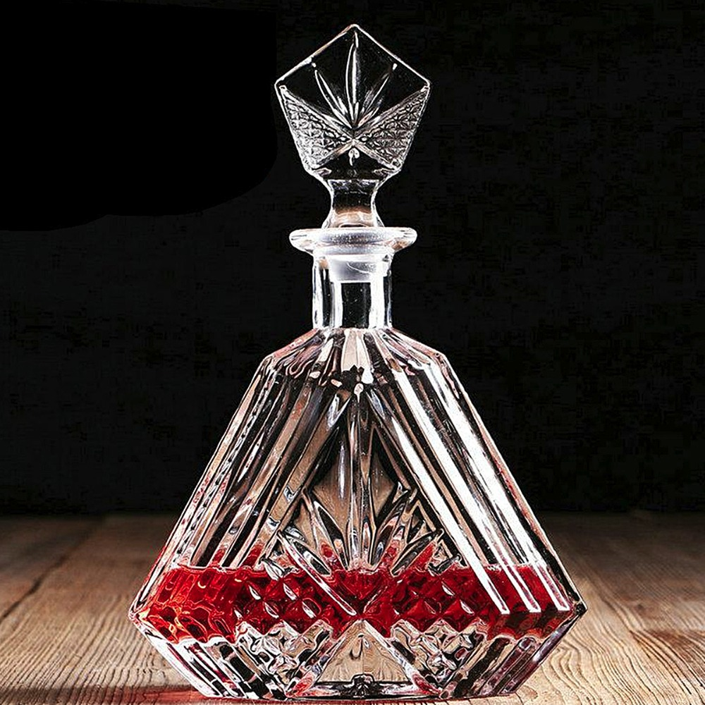 Homestia Crystal Glass Wine Decanter <font><b>Alcohol</b></font> Bottle Container Whiskey Carafe 600ml 780ml 860ml Wine Decanter