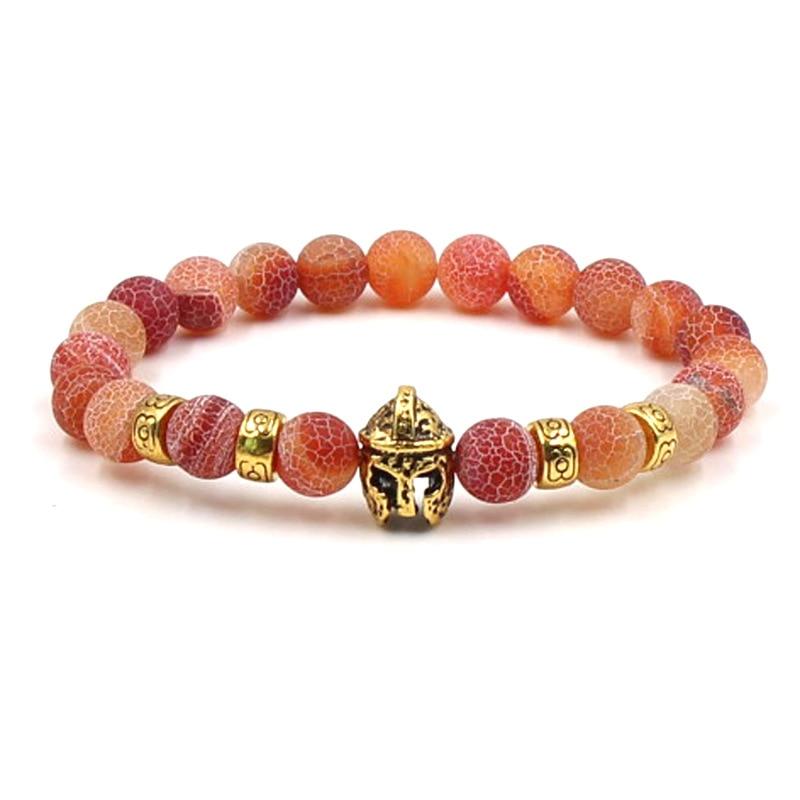 Natural stone Gold Head Bracelets Volcanic Stone Black Couple Beaded Bracelets Men Jewelry Fashion Woman Bracelets 2019 4