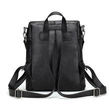 купить Women Leather Backpacks For Teenage Girls School Bags Fashion Vintage Shoulder Bag Simple Style Backpack Lady Fashionable Bags по цене 2172.66 рублей