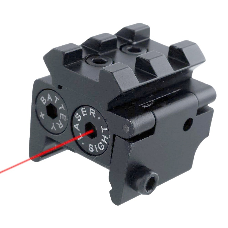 Pistol Air-gun Rifle Hunting Accessious Mini Adjustable Compact Red Dot Laser Sight With Detachable Picatinny 20mm Rail