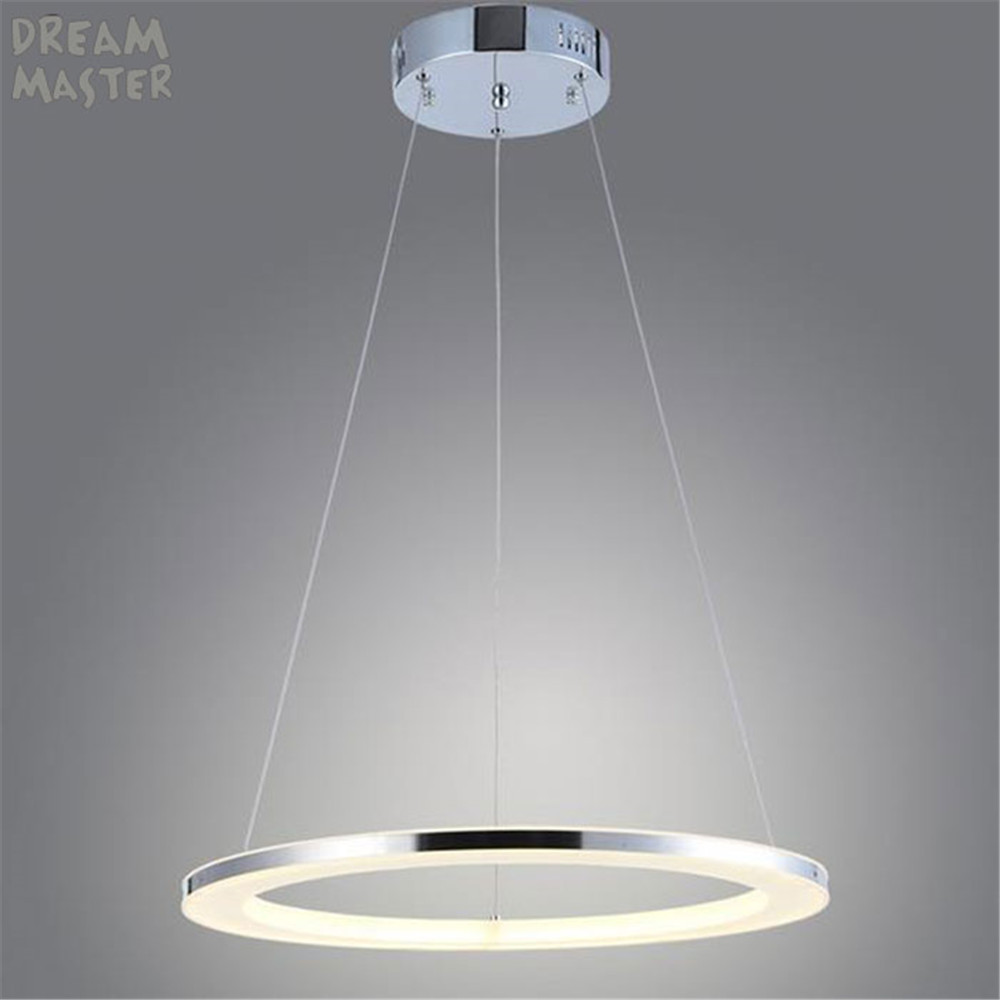 Modern LED Ring Acrylic chandelier for Living Room Dining Hotel Indoor Home Deco Lighting Stainless steel