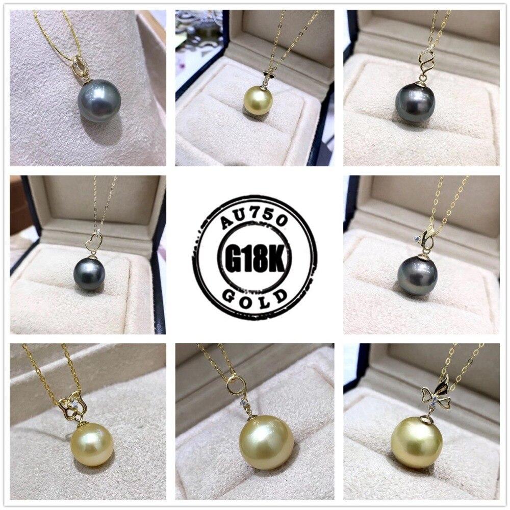 Solide 18 k or jaune pendentif connecteur, tasse et cheville perle cap pour collier, boucle d'oreille, dangle or bijoux, 1 pièce livraison gratuite