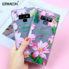 3D Relief Case For Samsung Galaxy Note 9 Luxury Cute Floral Phone Covers Soft TPU Silicon Leaves Fundas