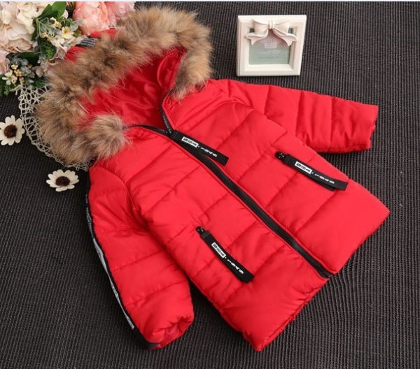 Novo 2016 inverno quente meninas acolchoado-algodão brasão 1 pc meninas moda inverno quente jaqueta com capuz meninas inverno roupas