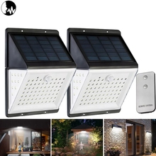 88 LED Solar Power Motion Sensor Light Voice Remote Control 5 mode Waterproof Garden outdoor Emergency Security Wall Lamp