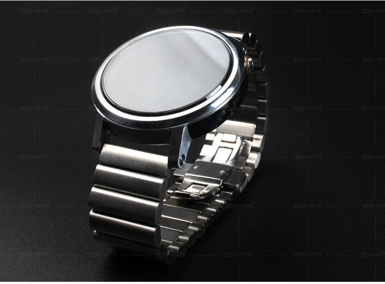 Exclusive dealing bamboo MOTO 360 1gen 2gen stainless steel generation 360 watch 22mm Butterfly Watch Band