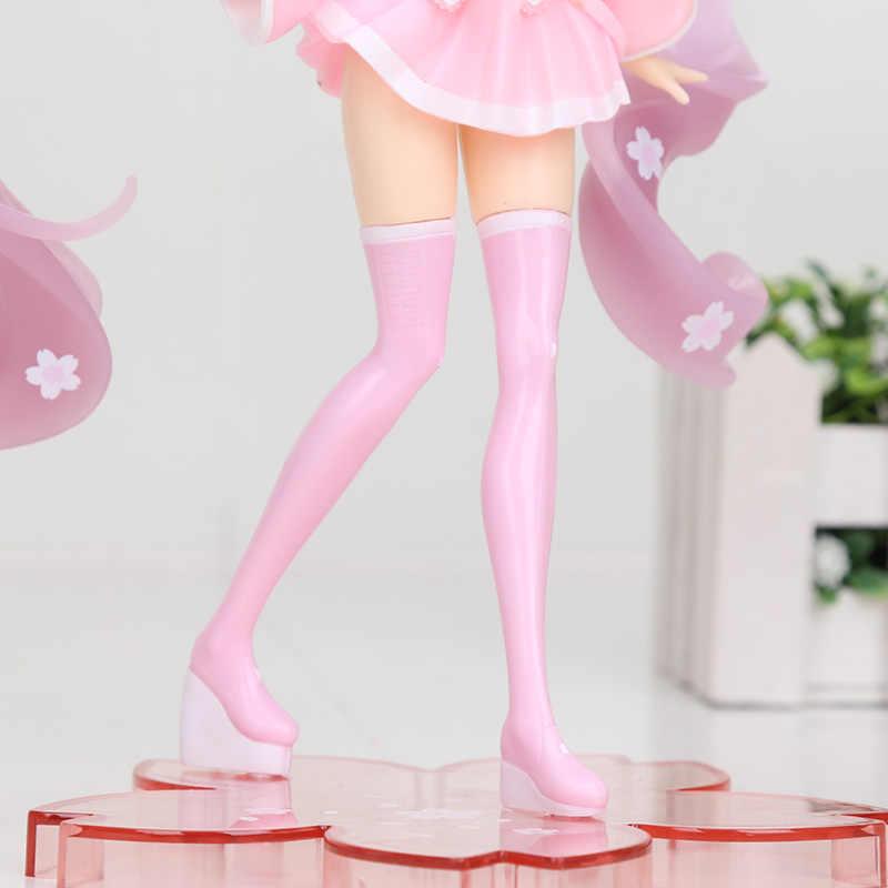 18cm אנימה ורוד Hatsune Miku סאקורה פעולה דמויות צעצועי Miku Speelgoed בנות PVC איור דגם צעצועים
