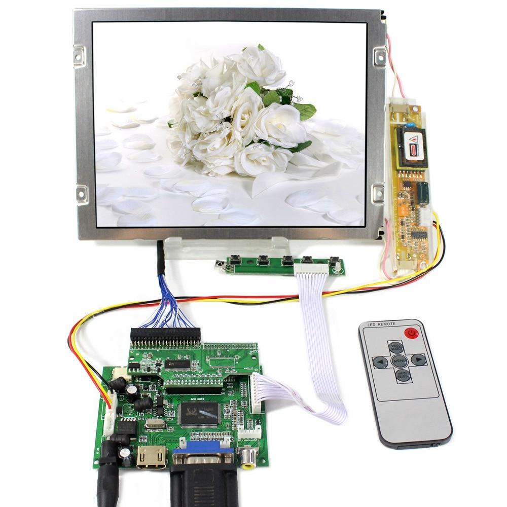 HDMI+VGA+2AV LCD Controller Board With 8.4inch 640x480 AA084VC03 LCD Screen hdmi vga 2av reversing lcd controller driver board with 6 2inch 800x480 hsd062idw1 lcd panel