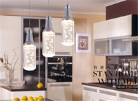12 456 Creative Brief Crystal Dining Living Room Pendent Lamp Beer Bottle Shape Store Pendant Lamp