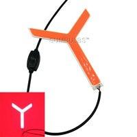 2PCS Y Shape Red LED Lamp For Car Tail Stop Lights Bulb DIY DC 12 14V